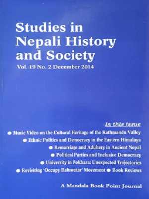 Studies in Nepali History and Society (SINHAS): Vol. 19 No.2 December 2014