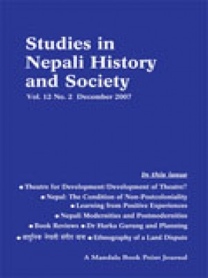 Studies in Nepali History and Society (SINHAS): Vol.12, No.2 December 2007