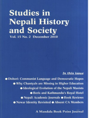 Studies in Nepali History and Society (SINHAS): Vol.15 No.2, December 2010