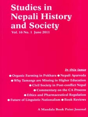 Studies in Nepali History and Society (SINHAS): Vol.16 No.1 June 2011