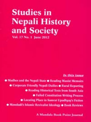 Studies in Nepali History and Society (SINHAS): Vol.17 No.1 June 2012
