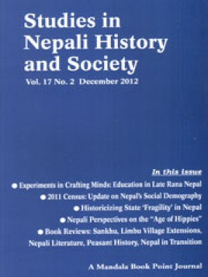 Studies in Nepali History and Society (SINHAS): Vol.17, No. 2 December 2012