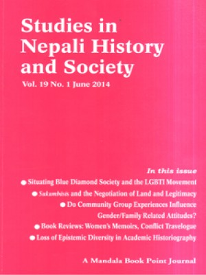 Studies in Nepali History and Society (SINHAS): Vol.19 No.1 June 2014