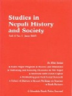 Studies in Nepali History and Society (SINHAS): Vol.8, No.1 June 2003