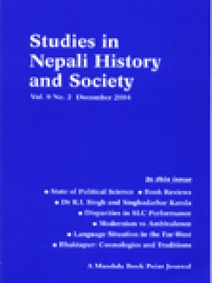 Studies in Nepali History and Society (SINHAS): Vol.9, No.2 December 2004