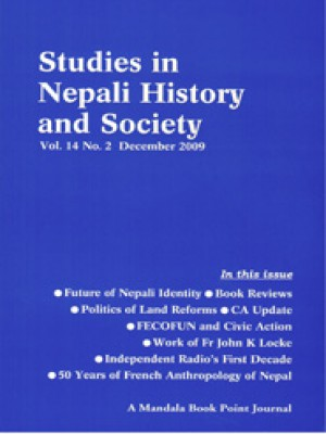 Studies in Nepali History and Socity (SINHAS): Vol. 14, No.2 December 2009