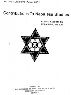Contributions to Nepalese Studies Volume 1, Number 2, June 1974, Ashad 2031)