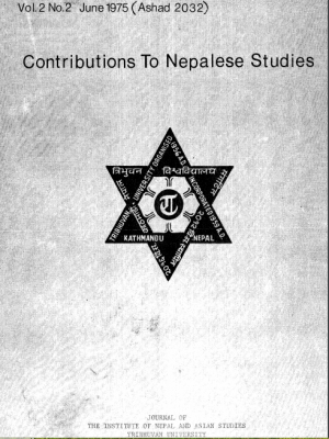 Contributions to Nepalese Studies Volume 2, Number 2, June 1975, Ashad 2032)