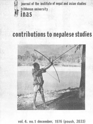 Contributions to Nepalese Studies Volume 4, Number 1, December 1976 (Poush 2033)
