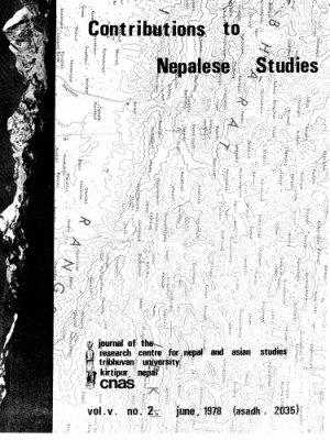 Contributions to Nepalese Studies Volume 5, Number 2, June 1978 (Asadh, 2035)