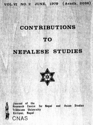 Contributions to Nepalese Studies Volume 6, Number 2, June 1979 (Asadh 2036)
