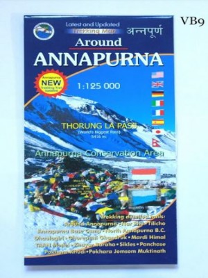Around Annapurna 1:125000