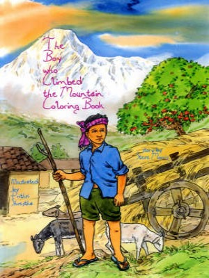 The boy who climbed the Mountain Coloring Book
